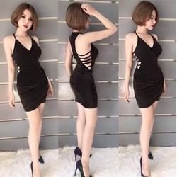 Đầm body sexy đan dây khoét eo