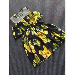 Đầm bông bé gái hở vai size đại 25-40kg