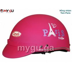 Mũ bảo hiểm cao cấp Canary TP74 Hồng nhám - Tem Paris