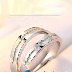 Nhẫn cặp tình nhân Bạc 92509 - CÓ QUÀ TẶNG HỘP ĐỰNG NHẪN XINH XẮN