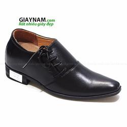 Giày tăng chiều cao nam 7cm màu đen bóng