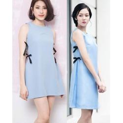 Đầm suông thiết kế phối nơ dễ thương