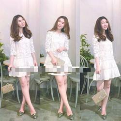 Đầm ren pha xô suông