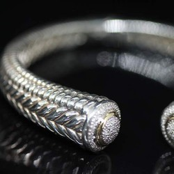 Vòng tay nữ bạc 925 Tiffany đính vàng 14k+ 200 viên kim cương - BV84