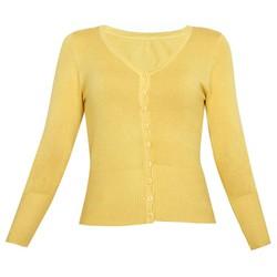 Áo khoác cardigan nữ len mỏng nhẹ cúc cổ tim ZENKO CARDIGAN NU 006 Y
