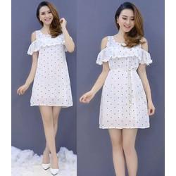 Đầm suông chấm bi dễ thương