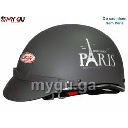 Mũ bảo hiểm cao cấp Canary TP74 Ca cao nhám - Tem Paris