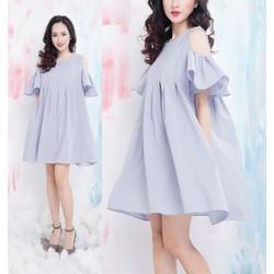 Đầm xoè thiết kế đơn giản hở vai đẹp