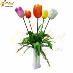 Bình hoa tulip silicon cao cấp