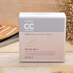 CC Cream Face It Aura Color Control Cream The Face Shop