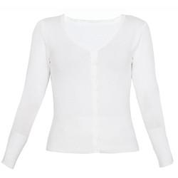 Áo khoác cardigan nữ len mỏng nhẹ cúc cổ tim ZENKO CARDIGAN NU 006 W