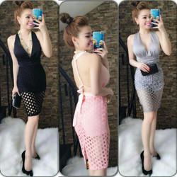 Đầm ôm phối ren thiết kế sexy