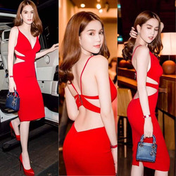 Đầm ôm thiết kế cut out sexy Ngọc Trinh