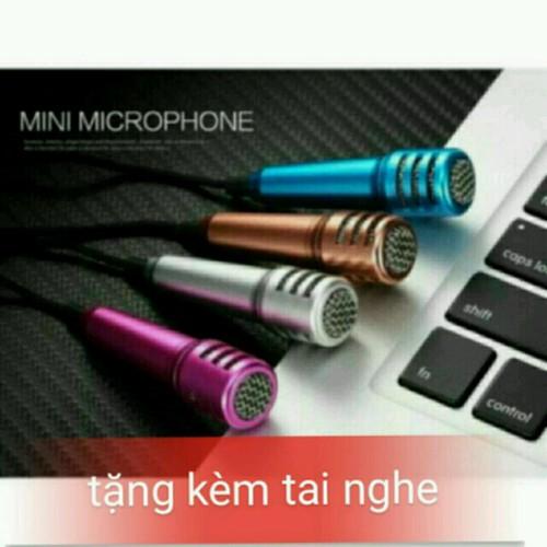 Mic karaoke trên đt kèm tai nghe