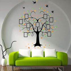 Decal dán tường trang trí cây khung hình