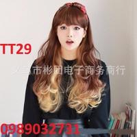 Tóc giả Hàn Quốc nữ nhuộm light - TT29
