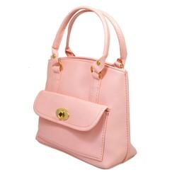Túi xách nhập khẩu - Túi xách nắp gập hồng