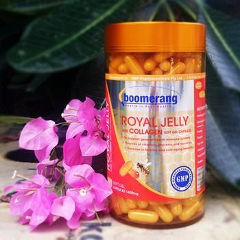 Kết quả hình ảnh cho royal jelly của hãng boomerang