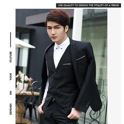 Bộ vest comple nam 3 món áo vest, ghi lê và quần tây body lịch lãm