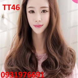 Tóc giả tơ nửa đầu Hàn Quốc kèm lưới - TT46