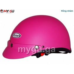 Mũ bảo hiểm cao cấp ARAYA HH666 - Hồng nhám trơn