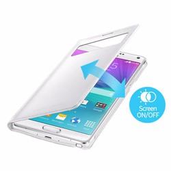 Bao da Galaxy Note 4 S View cover chính hãng loại cửa sổ nhỏ - White
