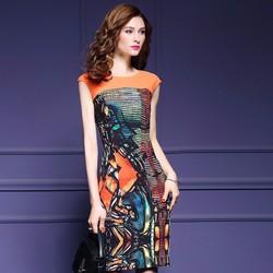 Đầm suông họa tiết sang trọng MZ882