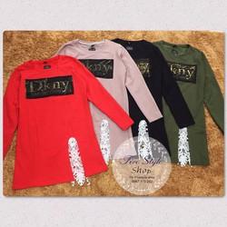 Đầm suông tag DKny đắp ren hàng nhập:
