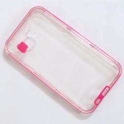 Ốp lưng dẻo Samsung-Galaxy J5 viền màu hồng đẹp