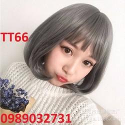 Tóc giả nữ màu khói siêu cá tính - TT66