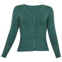 Áo khoác cardigan nữ len mỏng nhẹ cúc cổ tim ZENKO CARDIGAN NU 006 DGR