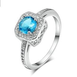 Nhẫn pha lê xanh lam R0048