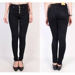 Quần jean đen lưng cao 5 nút