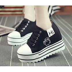 Giày Sneakers Độn Đế Giày Bánh Mì Baymax G130