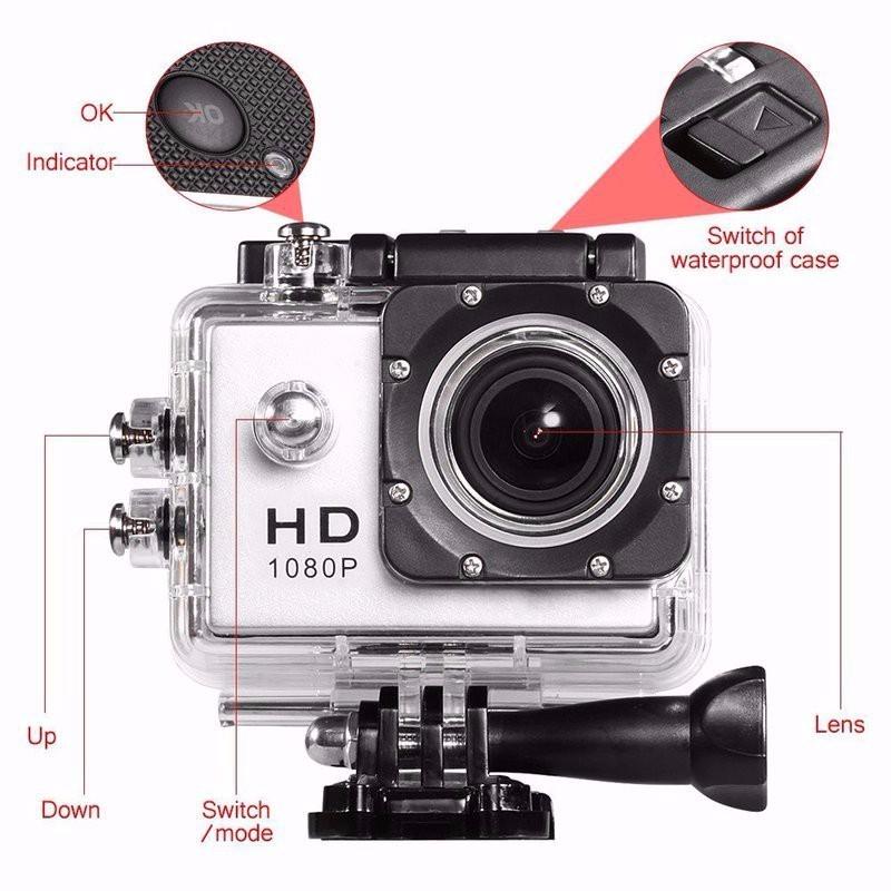 Camera hành trình chống nước U9 - FULL HD -1080P - Xanh 1