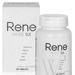 Rene White 5X - Viên Uống Dưỡng Da Trắng Sáng Tự Nhiên