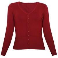 Áo khoác cardigan nữ len mỏng nhẹ cúc cổ tim ZENKO CARDIGAN NU 006 DR