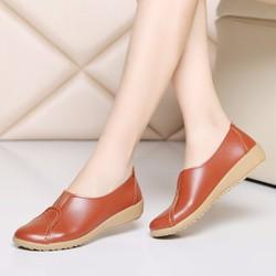 Giày mọi nữ da đế mềm thời trang - LN719