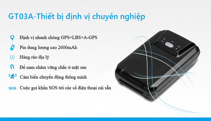 Thiết bị định vị GPS cầm tay GT03A 2