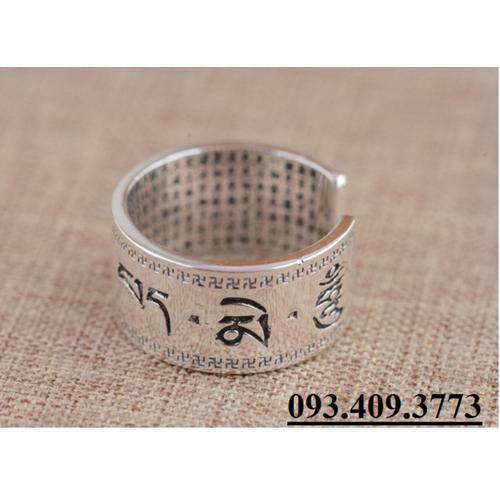 Nhẫn Khắc Thần Chú Om Mani Padme Hum Tây Tạng -NH148