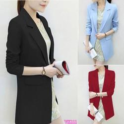 Áo khoác blazer form dài sành điệu