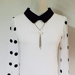 Đầm thun nữ tay phối voan thiết kế độc đáo, thời trang.