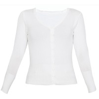 Áo khoác cardigan nữ len mỏng nhẹ cúc cổ tim CARDIGAN NU 006 W