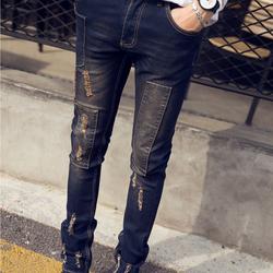 Quần Jeans nam vá rách cá tính