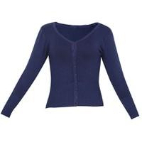 Áo khoác cardigan nữ len mỏng nhẹ cúc cổ tim CARDIGAN NU 006 N