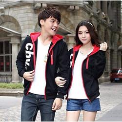 Áo khoác cặp nam nữ CBV phối đỏ