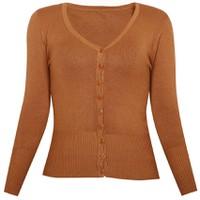 Áo khoác cardigan nữ len mỏng nhẹ cúc cổ tim CARDIGAN NU 006 BR