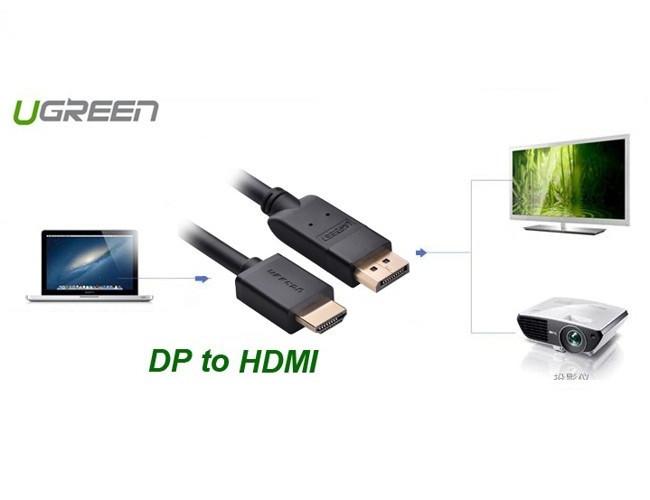 Cáp chuyển đổi Displayport sang HDMI 2m chính hãng Ugreen UG-10202 1