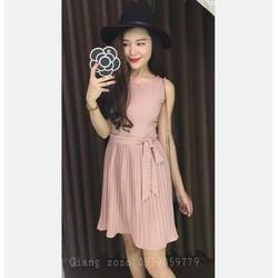Đầm suông kết hạt cườm váy đập ly xinh xắn