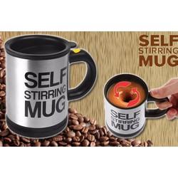 Ly cà phê pha tự động SELF MUG Xám Đen